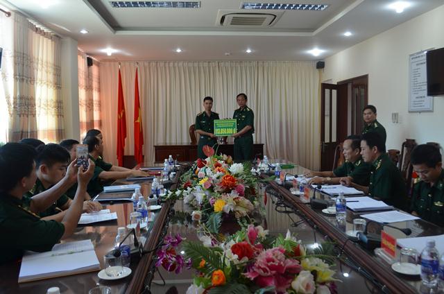 Bộ đội Biên phòng Đắk Lắk quyên góp hỗ trợ gia đình quân nhân có hoàn cảnh đặc biệt khó khăn