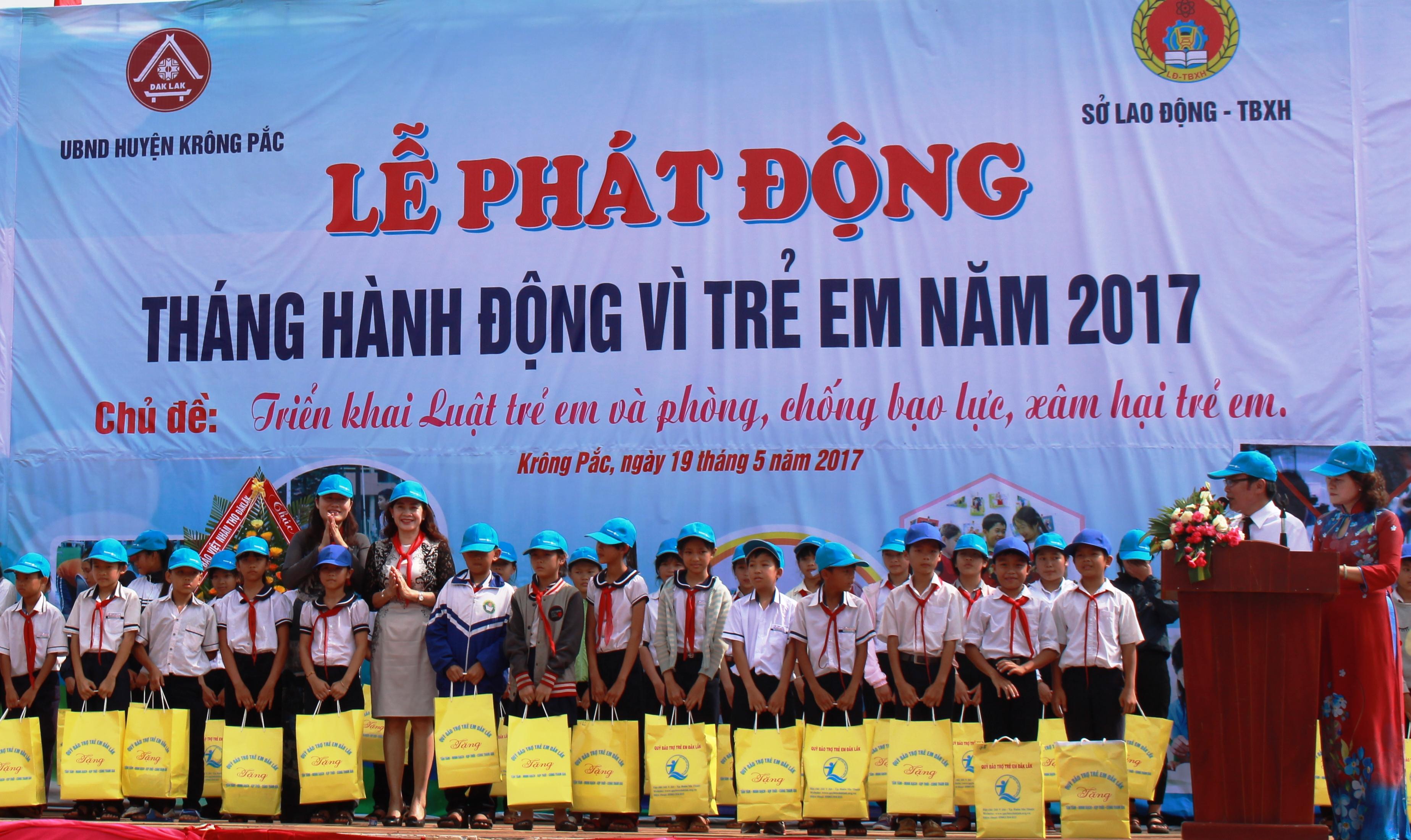 Lễ phát động Tháng hành động vì trẻ em năm 2017