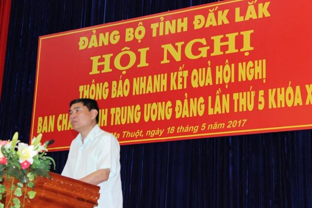 Thông báo nhanh kết quả Hội nghị Ban Chấp hành Trung ương Đảng lần thứ 5, khóa XII