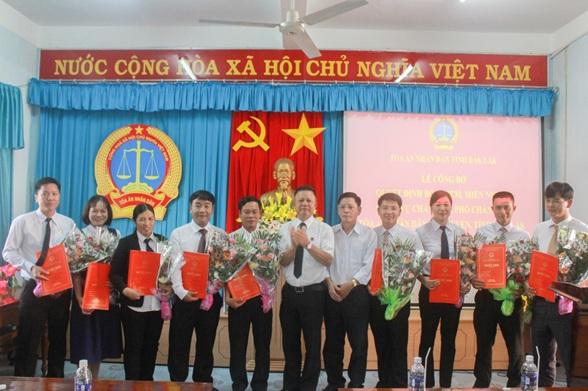 Tòa án nhân dân tỉnh Đắk Lắk tổ chức Lễ công bố và trao Quyết định bổ nhiệm chức vụ quản lý