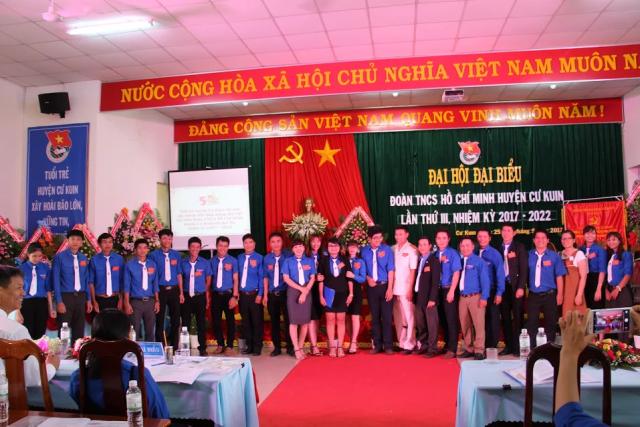 Đại hội Đại biểu Đoàn TNCS Hồ Chí Minh huyện Cư Kuin lần thứ III, nhiệm kỳ 2017 – 2022