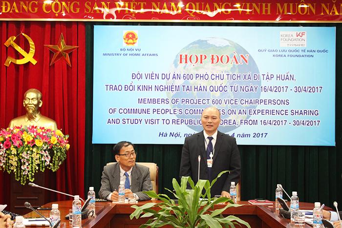 Bộ Nội vụ tổ chức Hội nghị Tọa đàm làm cơ sở để tổng kết Dự án 600 Phó Chủ tịch xã tại tỉnh.