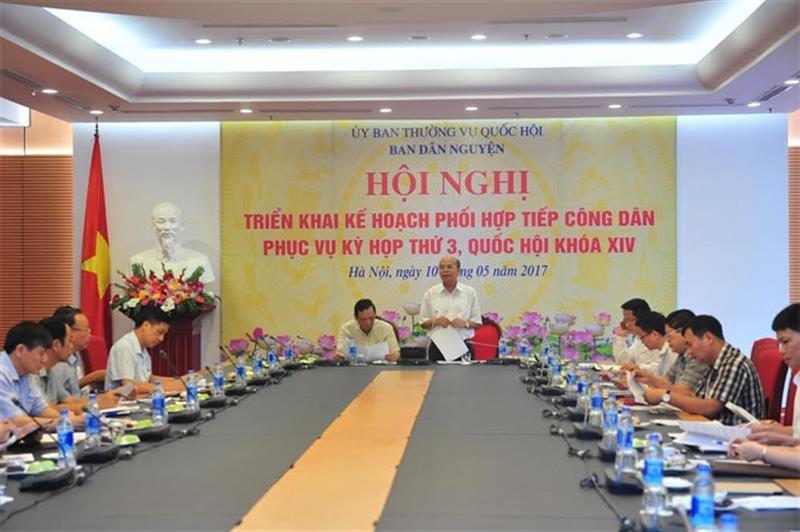 Phối hợp tiếp công dân phục vụ Kỳ họp thứ Ba, Quốc hội khóa XIV.