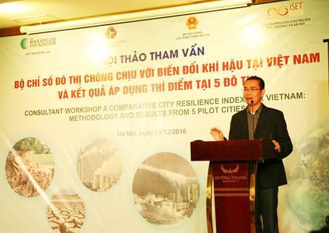 Hoàn thiện Bộ chỉ số đô thị chống chịu với biến đổi khí hậu tại Việt Nam