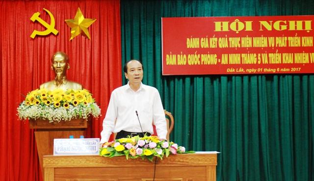 Kết luận của Chủ tịch UBND tỉnh tại Hội nghị triển khai nhiệm vụ phát triển kinh tế - xã hội, đảm bảo quốc phòng – an ninh tháng 6/2017