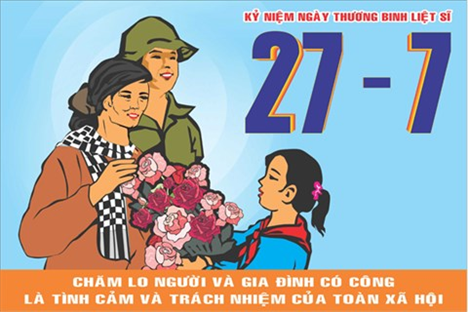 Hướng dẫn tuyên truyền kỷ niệm 70 năm Ngày Thương binh Liệt sỹ
