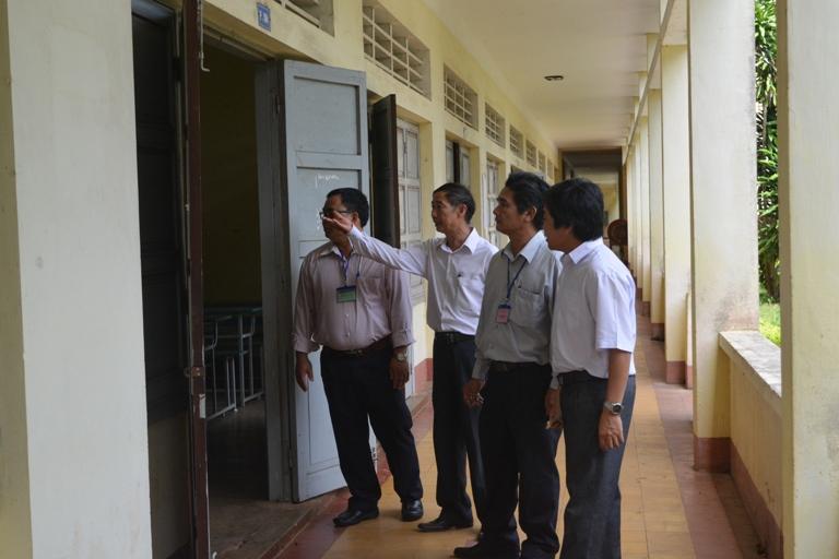 Thanh tra, kiểm tra công tác chuẩn bị thi THPT quốc gia năm 2017.