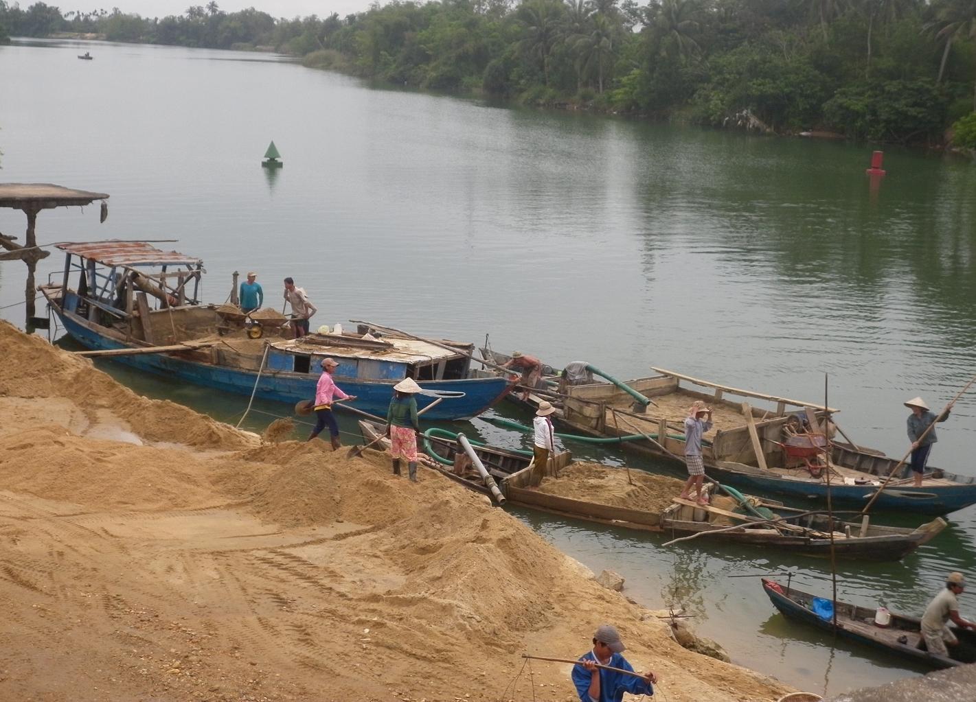 Báo cáo tình hình hoạt động khai thác cát trên địa bàn tỉnh