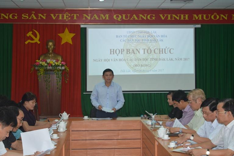 Chuyển thời gian tổ chức Ngày Hội văn hóa các dân tộc tỉnh Đắk Lắk sang năm 2018.