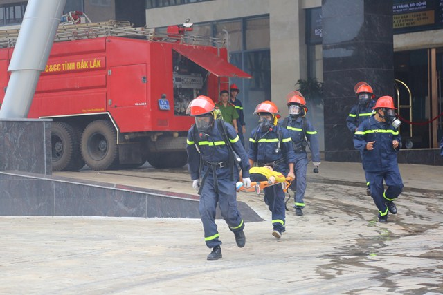 Tăng cường công tác diễn tập phương án chữa cháy, CNCH trên địa bàn tỉnh