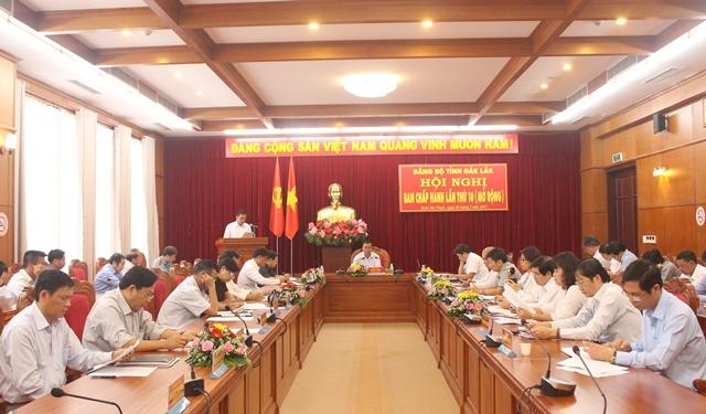 Hội nghị Ban Chấp hành Đảng bộ tỉnh lần thứ 10