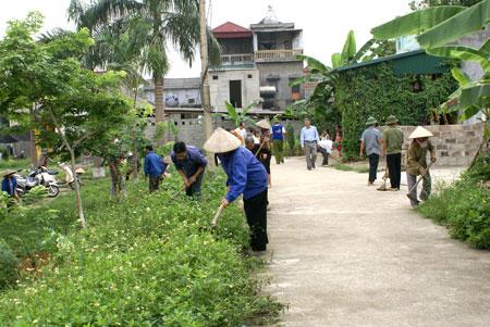 Đẩy mạnh thực hiện công tác bảo vệ môi trường trong xây dựng nông thôn mới trên địa bàn tỉnh.