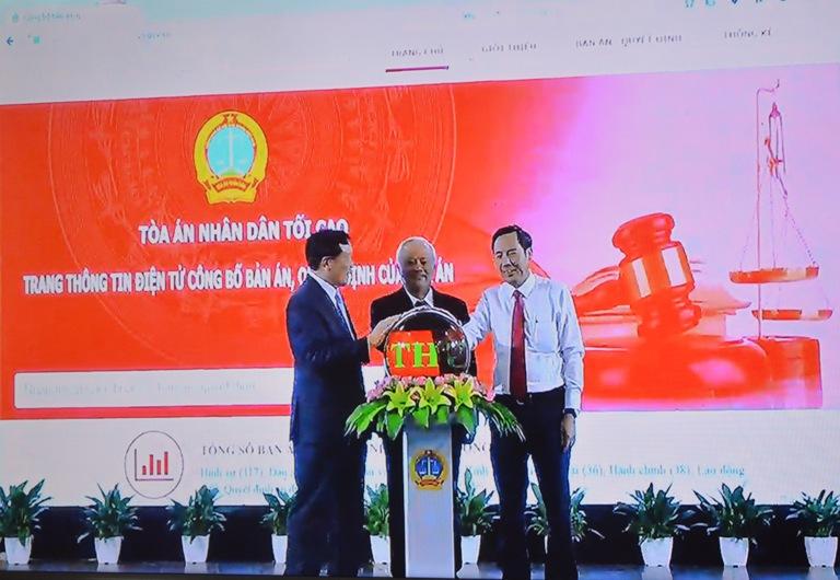 Lễ khai trương Trang thông tin điện tử công bố bản án, quyết định của Tòa án.