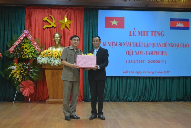 Lễ mít tinh kỷ niệm 50 năm thiết lập quan hệ ngoại giao Việt Nam – Campuchia.