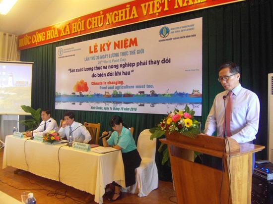 Tiếp nhận dự án hỗ trợ của Tổ chức Nông nghiệp và Lương thực của Liên hợp quốc.