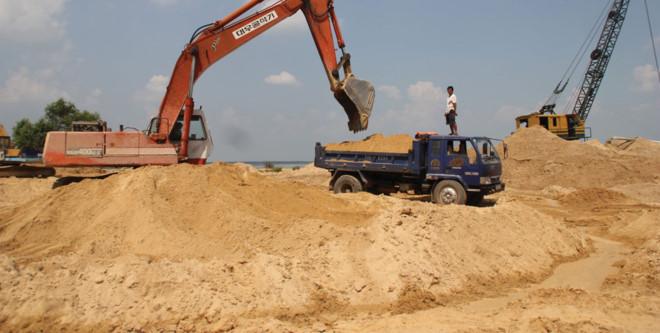 Tăng cường sản xuất, sử dụng vật liệu thay thế cát tự nhiên.