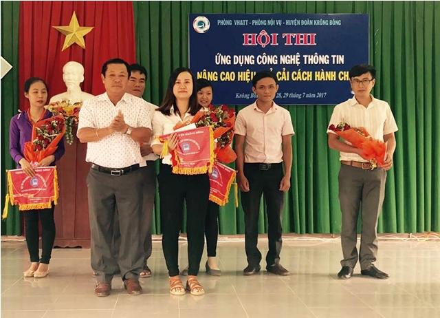 Huyện Krông Bông tổ chức Hội thi ứng dụng công nghệ thông tin nâng cao hiệu quả cải cách hành chính năm 2017