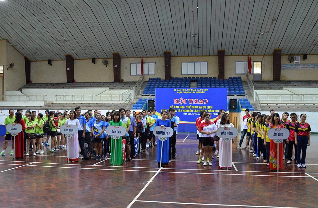 Khai mạc Hội thao Sở Văn hóa, Thể thao và Du lịch Cụm thi đua Tây Nguyên lần thứ 6