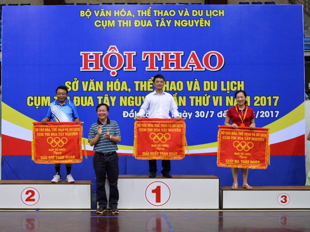 Đắk Lắk giành giải Nhất toàn đoàn Hội thao Sở Văn hóa, Thể thao và Du lịch Cụm thi đua Tây Nguyên