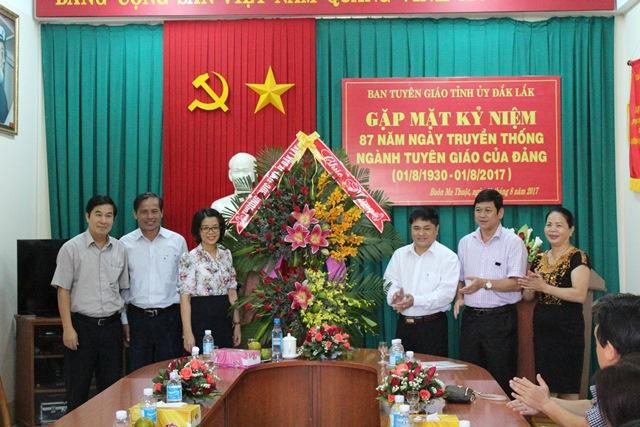 Ban Tuyên giáo Tỉnh ủy gặp mặt Kỷ niệm 87 năm Ngày truyền thống ngành Tuyên giáo của Đảng