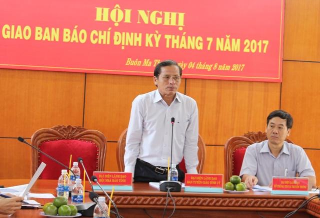 Hội nghị Giao ban báo chí định kỳ tháng 7/2017