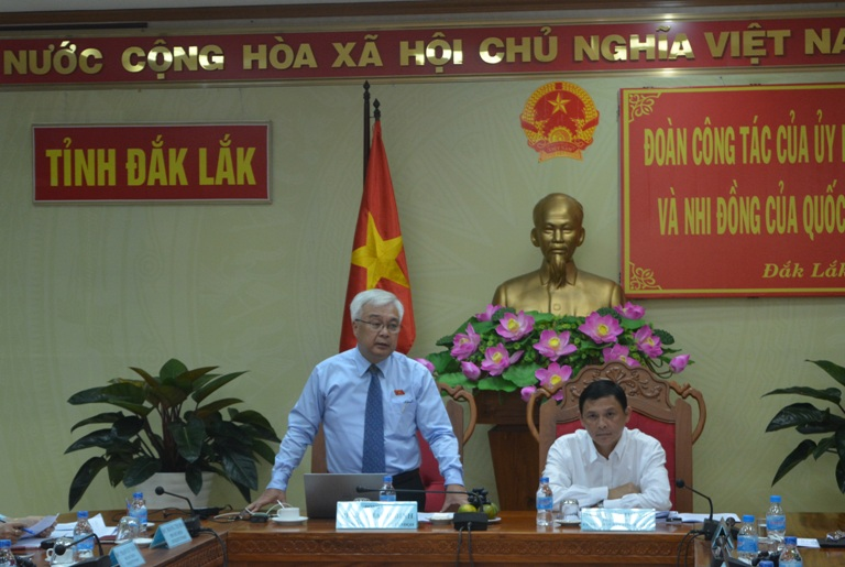 Ủy ban Văn hóa, Giáo dục, Thanh niên, Thiếu niên và Nhi đồng của Quốc hội giám sát việc thực hiện chính sách pháp luật và Nghị quyết của Quốc hội trên địa bàn tỉnh.