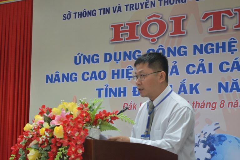 Khai mạc Hội thi ứng dụng công nghệ thông tin nâng cao hiệu quả cải cách hành chính tỉnh Đắk Lắk năm 2017.