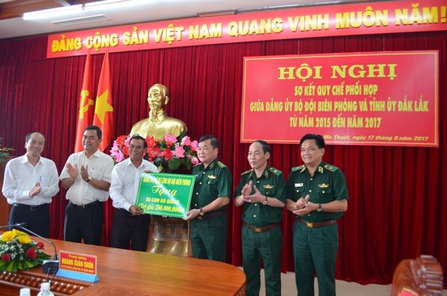 Đảng ủy Bộ đội Biên phòng và Tỉnh ủy Đắk Lắk đã tổ chức Hội nghị sơ kết thực hiện Quy chế phối hợp giai đoạn 2015- 2017