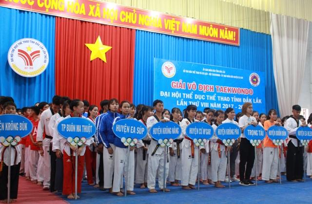 180 vận động viên tranh tài tại giải vô địch Taekwondo cấp tỉnh năm 2017