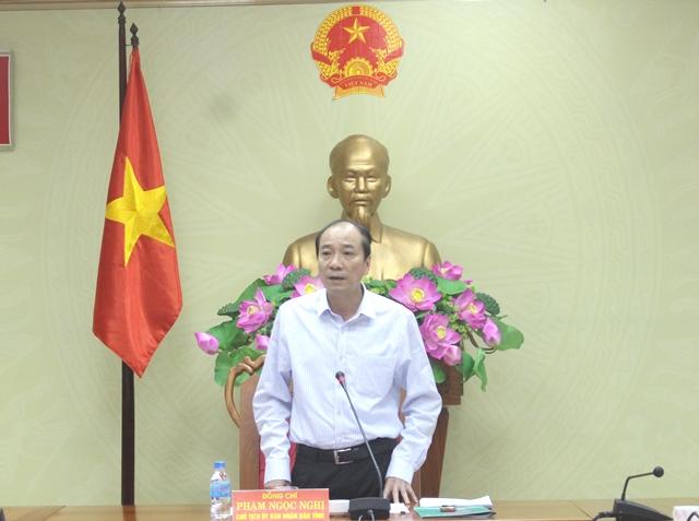 UBND tỉnh họp thông qua nội dung trình kỳ họp bất thường, HĐND tỉnh khóa IX