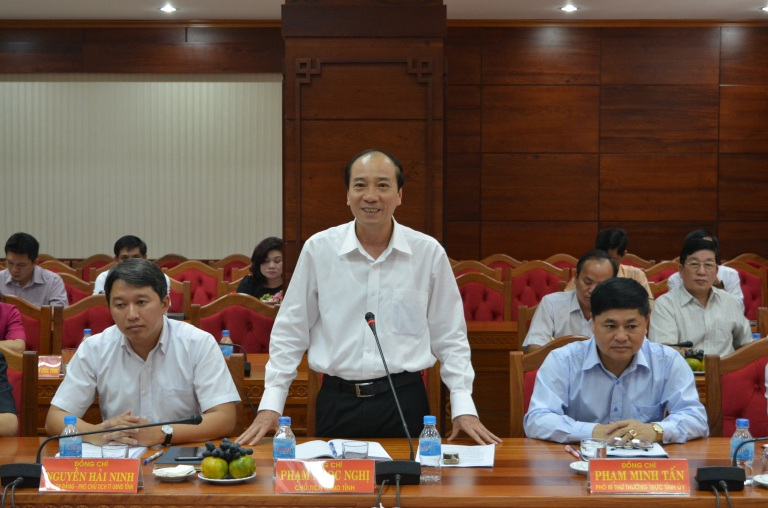 Lãnh đạo tỉnh làm việc với Bộ Tư pháp về công tác Tư pháp và Thi hành án dân sự trên địa bàn.