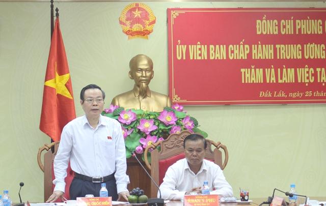 Đoàn công tác của Quốc hội thăm và làm việc tại tỉnh Đắk Lắk