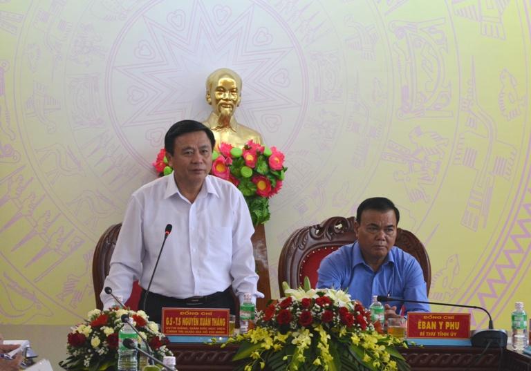 Lãnh đạo tỉnh tiếp và làm việc với đoàn công tác của Học viện Chính trị Quốc gia Hồ Chí Minh