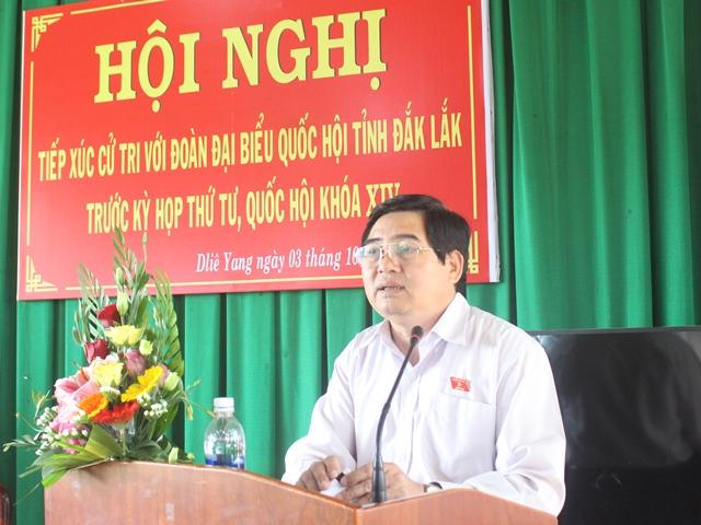 Đoàn Đại biểu Quốc hội tỉnh tiếp xúc cử tri tại huyện Ea H'leo