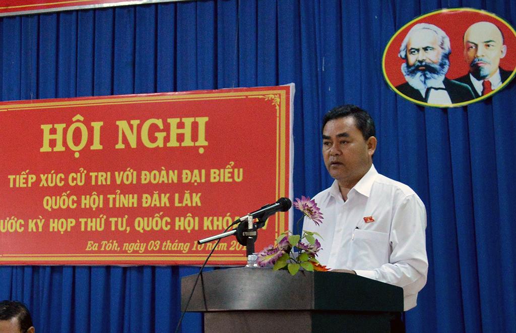 Đoàn Đại biểu Quốc hội tỉnh tiếp xúc với cử tri huyện Krông Năng