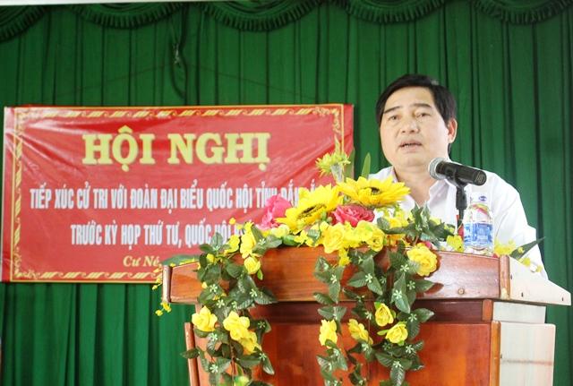 Đoàn Đại biểu Quốc hội tỉnh tiếp xúc cử tri tại huyện Krông Búk