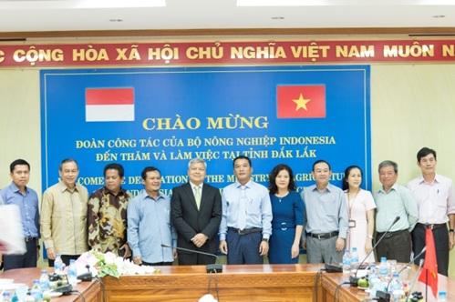 Đoàn công tác Bộ Nông nghiệp Indonesia thăm và làm việc tại tỉnh