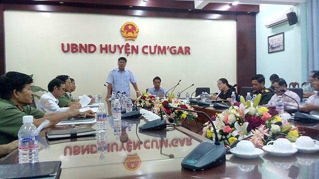 Đoàn công tác của tỉnh kiểm tra công tác xây dựng đời sống văn hóa trên địa bàn huyện Cư M'gar