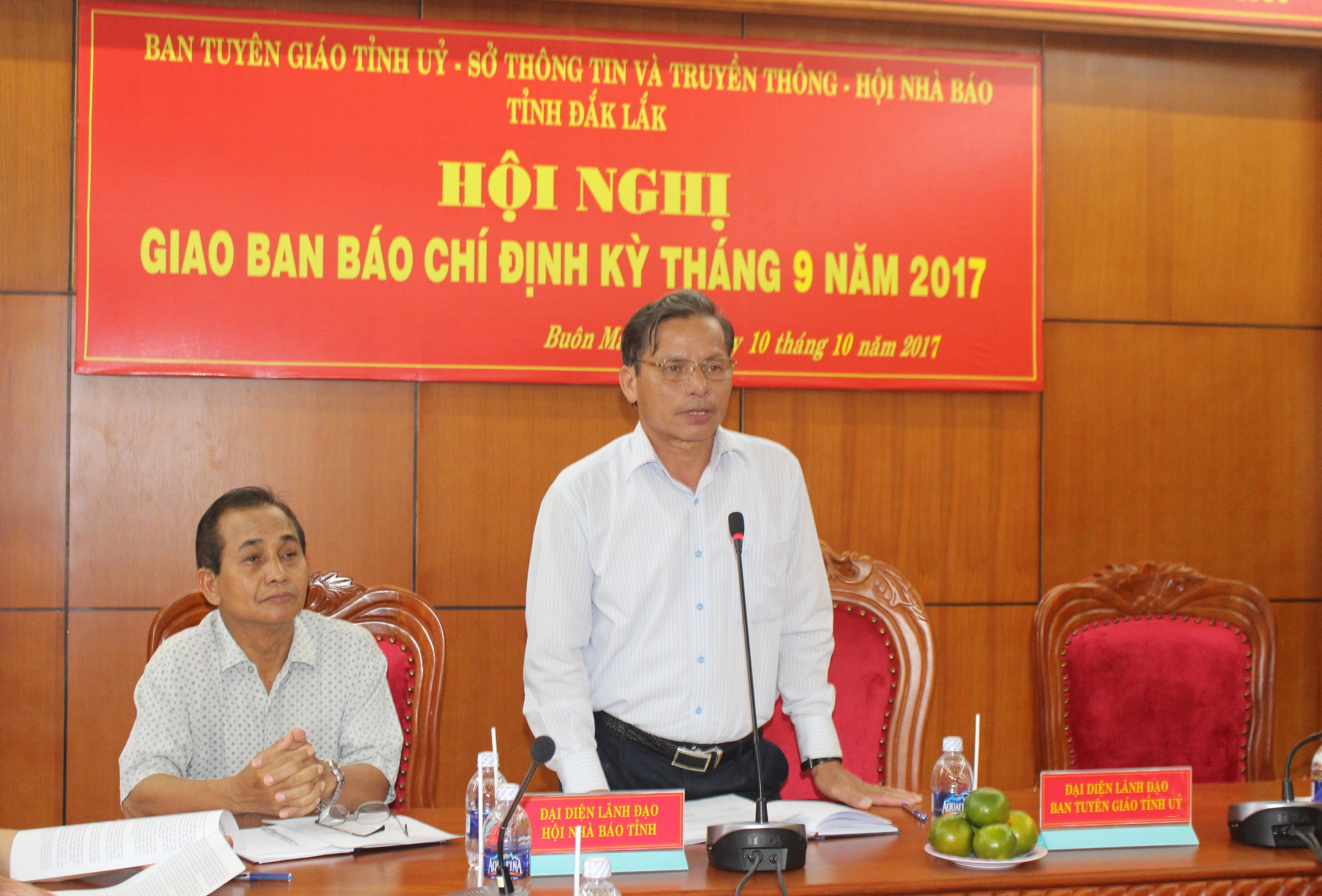 Hội nghị giao ban báo chí định kỳ tháng 9/2017