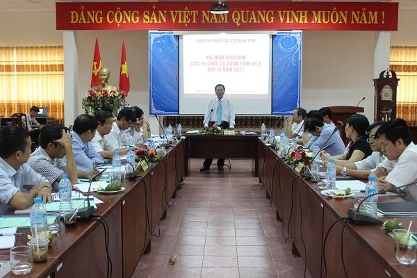 Hội nghị Giao ban Cụm tổ chức cơ sở Đảng số V, Quý III năm 2017