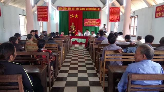 Hội nghị tiếp xúc cử tri tại địa bàn xã Ea Drơng, huyện Cư M'gar