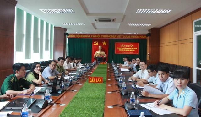 Ban Chỉ đạo 389 Quốc gia tập huấn sử dụng báo cáo trực tuyến cho các tỉnh, thành
