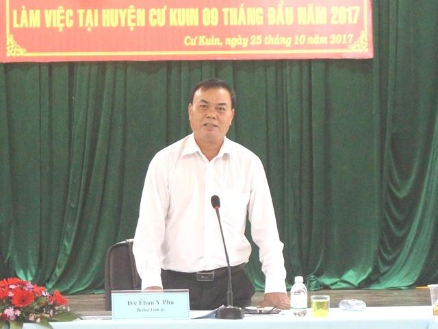 Thường trực Tỉnh ủy làm việc với Huyện ủy Cư Kuin