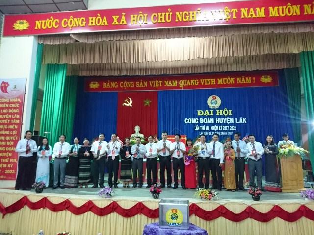 Huyện Lắk tổ chức Đại hội Công đoàn lần thứ VIII, nhiệm kỳ 2017 - 2022