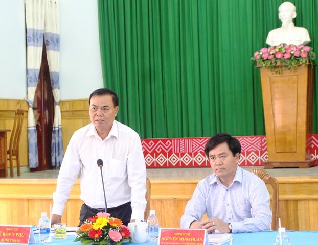 Thường trực Tỉnh ủy làm việc với Huyện ủy Krông Bông
