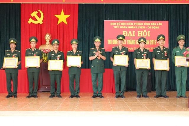 Các đơn vị trong Bộ đội Biên phòng tỉnh tổ chức Đại Hội Thi đua quyết thắng