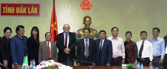 UBND tỉnh tiếp Đoàn công tác của Đại sứ quán Brazil tại Việt Nam