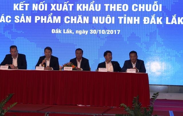 Tọa đàm Kết nối xuất khẩu theo chuỗi các sản phẩm chăn nuôi tỉnh Đắk Lắk