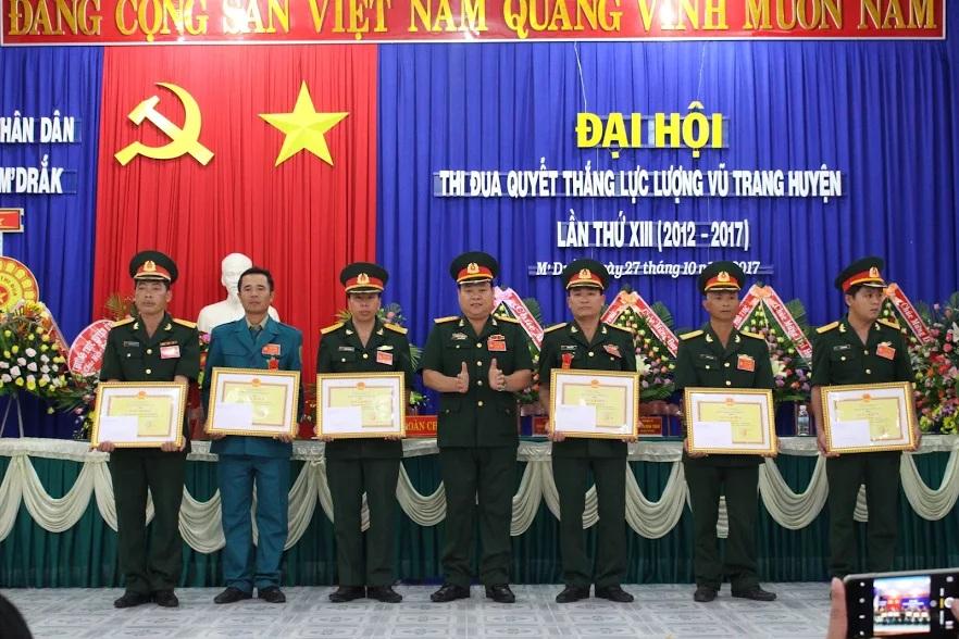 Đại hội Thi đua quyết thắng Lực lượng vũ trang huyện M'Drắk lần thứ XIII, giai đoạn 2012 - 2017