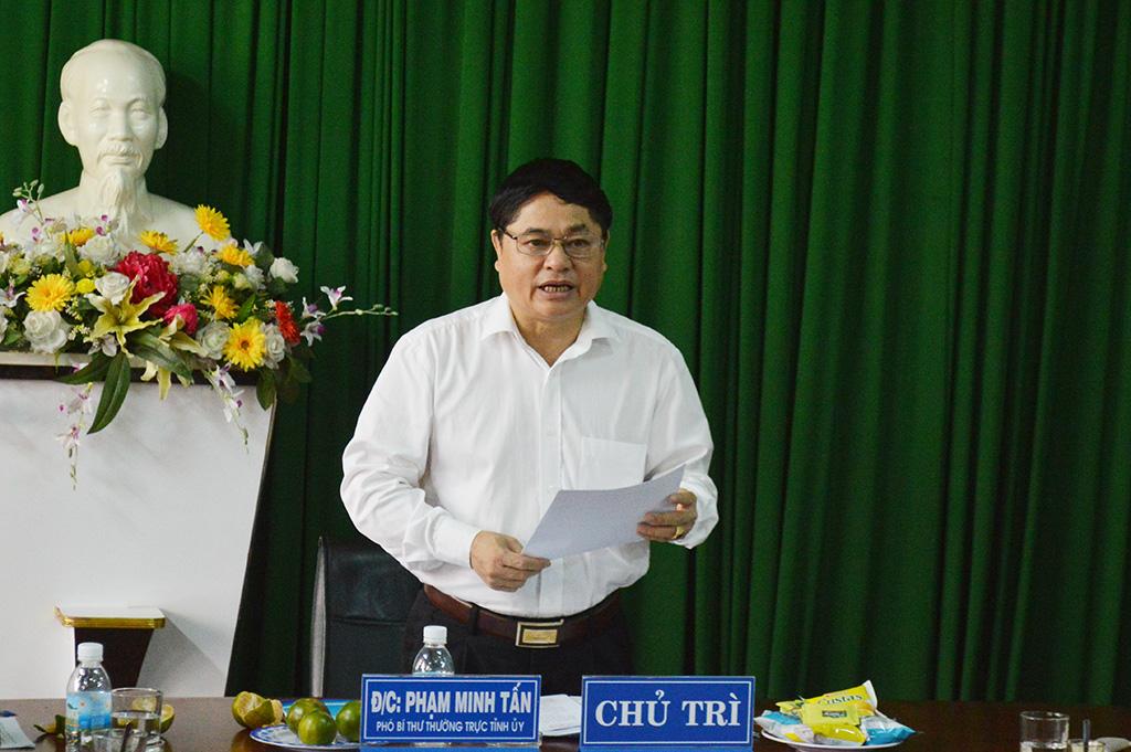 Đoàn công tác của Tỉnh ủy làm việc với Tỉnh đoàn